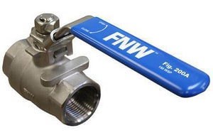 FNW® 2 in. Stainless Steel Full Port NPT 1000# Ball Valve FNW200AK