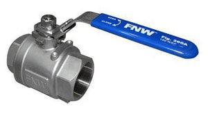 FNW 1/4 in. 316 Stainless Steel Full Port Threaded 1000# Ball Valve FNW260AB at Pollardwater