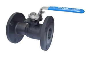 FNW 2 in. Carbon Steel Reduced Port Flanged 150# Ball Valve FNW501BK