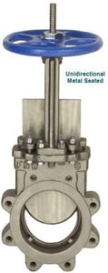FNW® Figure 61B 16 in. Ductile Iron and 316L Stainless Steel Flanged Knife Gate Valve FNW61B16