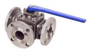 FNW 2-1/2 in. Stainless Steel L-Port Flanged 150# Ball Valve FNW633