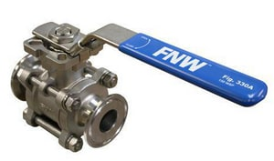 FNW 1 in. Stainless Steel Clamp 400# Ball Valve FNW330A