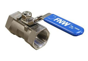 FNW® 1/2 in. Stainless Steel Reduced Port NPT 1000# Ball Valve FNW100AD