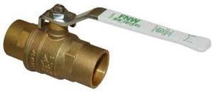 FNW 1-1/2 in. Brass Full Port Sweat 600# Ball Valve FNWX416