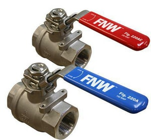 FNW® 1 in. Stainless Steel Full Port NPT 2000# Ball Valve FNW220AG