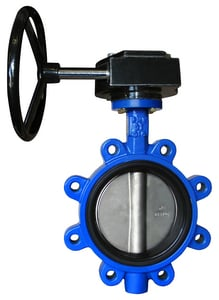 FNW 732 Series 5 in. Ductile Iron Buna-N Locking Lever Handle Butterfly Valve FNW732BUDS