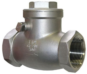FNW® 16B-200 1/2 in. Stainless Steel NPT Check Valve FNW16B200D