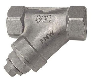 FNW® Figure 14B-YSS 1-1/4 in. 800# 20 Mesh Stainless Steel Threaded NPT Wye Strainer FNWYSSH