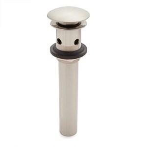 Signature Hardware Mushroom 2-1/2 x 6 in. Bathroom Sink Drain in Brushed Nickel SH205616