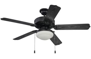 Craftmade International Enduro 52 in. 18W 5-blade 2-Light Ceiling Fan in Matte Black CEND52MBK5PC1