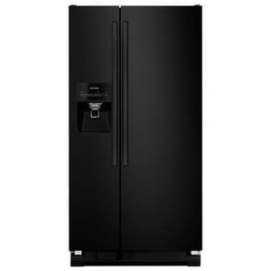 Amana 21.22 cf Side-by-Side Refrigerator with Drawer in Black AASI2275FRB