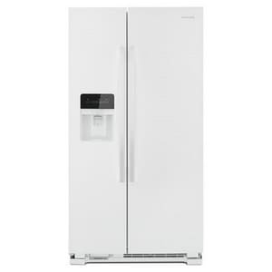 Amana 35-7/8 in. 24.57 cf Side-by-side Freestanding Refrigerator in White AASI2575GRW