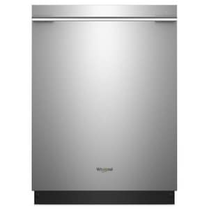 Whirlpool 24-1/2 in. Nylon Built-in 6 Cycle Smart Dishwasher with Contemporary Handle WWDTA75SAH