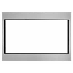 Whirlpool 27 in Trim Kit for WMC50522HZ Countertop Microwave and Kitchen Aid KMCS3022GSS Microwave Oven WMK2227AZ