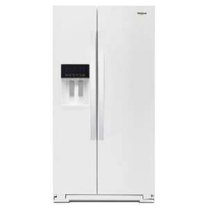Whirlpool 36 in. 20.59 cf Freestanding Counter Depth Side-by-Side Refrigerator in White WWRS571CIHW