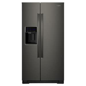 Whirlpool 36 in. 20.59 cf Counter Depth and Side-by-side Freestanding Refrigerator in Fingerprint Resistant Black Stainless WWRS571CIHV