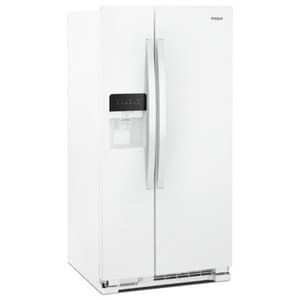 Whirlpool 24.55 cf Side-By-Side Refrigerator in White WWRS325SDHW