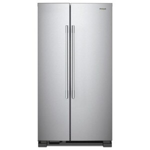 Whirlpool 33-63/100 in. 25.07 cf Side-by-Side Refrigerator in Monochromatic Stainless Steel WWRS315SNHM