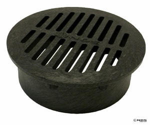 NDS 6 in. Round Plastic Grate in Black N40