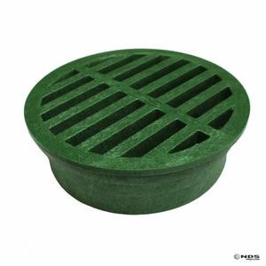 NDS 6 in. Foam Polyolefin Round Grate Green N50