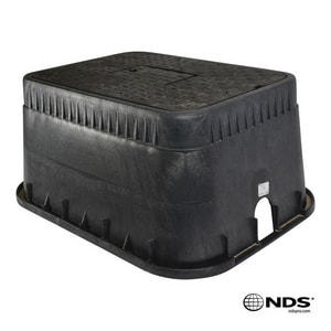 Jones Stephens 12 x 12 x 17 in. Standard Box with Ductile Iron Meter Reader Cover ND1200DIRB