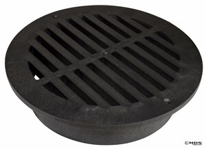 NDS 12 in. Round Grate in Black N1240