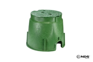 NDS 10 in. Valve Box with Irrigation Cover in Green N212BC