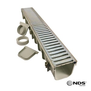 NDS Pro Series 39-3/8 x 5-1/2 in. Channel with Metal Grate N864GMTL