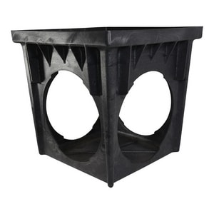 NDS 18 x 18 in. 4-Hole One Piece Catch Basin in Black N1884