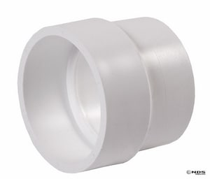 NDS 3 in. Hub Straight and DWV PVC Sewer and Drain Coupling N3P15