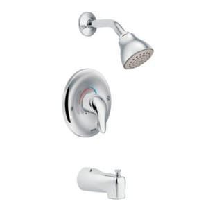 Moen Chateau® Single Handle Single Function Bathtub & Shower Faucet in Polished Chrome Trim Only MTL183EP