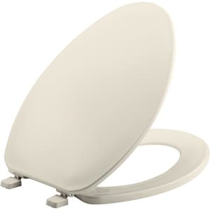 Bemis Elongated Closed Front Toilet Seat With Cover in Biscuit B170346