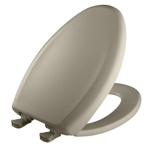 Bemis Elongated Closed Front Toilet Seat With Cover in Tender Grey B1200SLOWT052
