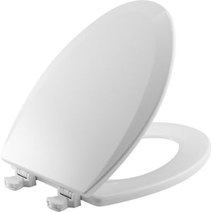 Bemis Elongated Closed Front Toilet Seat With Cover in White B1500EC