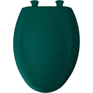 Bemis Whisper-Close® Elongated Closed Front Toilet Seat With Cover in Teal B1200SLOWT655