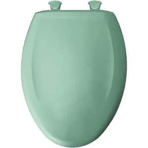 Bemis Elongated Closed Front Toilet Seat With Cover in Navy B1200SLOWT165