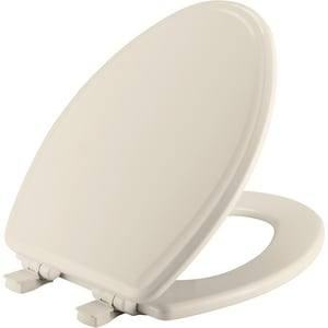 Bemis Elongated Closed Front Toilet Seat With Cover in Biscuit B1600E3