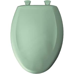 Bemis Elongated Closed Front Toilet Seat With Cover in Green B1200SLOWT035