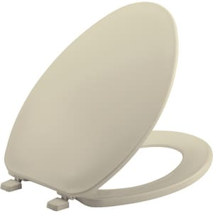 Bemis Elongated Closed Front Toilet Seat With Cover in Bone B170006