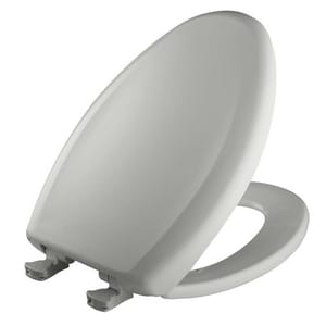 Bemis Elongated Closed Front Toilet Seat With Cover in Ice Grey B1200SLOWT062