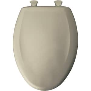 Bemis Elongated Closed Front Toilet Seat With Cover in Parchment B1200SLOWT046