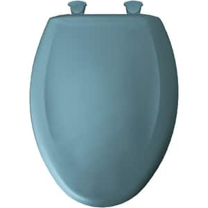 Bemis Elongated Closed Front Toilet Seat With Cover in Regency Blue B1200SLOWT064