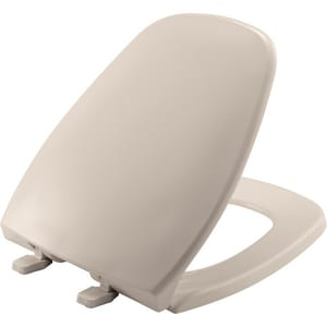 Bemis Eljer® Emblem Round Closed Front Toilet Seat With Cover in Blush B1240200443