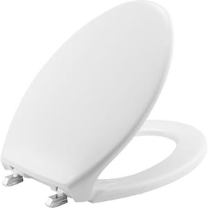 Bemis Elongated Closed Front Toilet Seat With Cover in White B1900SS000