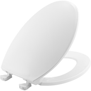 Bemis Elongated Closed Front Toilet Seat With Cover in White B1800EC000