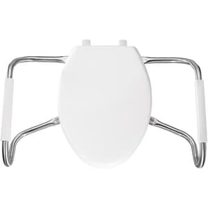 Bemis Medic-Aid® Plastic Elongated Open Front With Cover Toilet Seat in White BMA2150T000