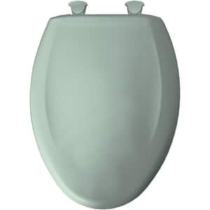 Bemis Elongated Closed Front Toilet Seat With Cover in Seafoam B1200SLOWT455