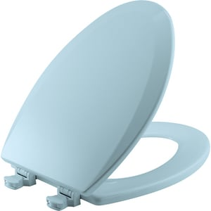 Bemis Elongated Closed Front Toilet Seat With Cover in Dresden Blue B1500EC464