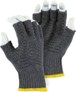 Majestic Glove Large Gripper Criss Cross No Finger Gloves in Orange M1525FLT01