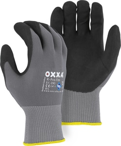 Majestic Glove Oxxa® L Size Spandex, Plastic, Foam and Rubber Palm Gloves M51290L